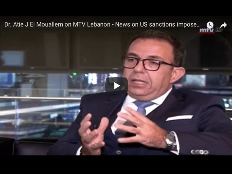 Appearance on MTV Lebanon on US sanctions imposed on Individuals